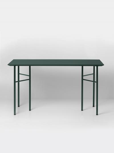 Ferm Living Tisch in Grün, 160 cm (div. Beinfarben)