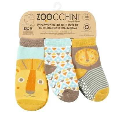 Zoocchini 3er Pack Söckchen, Leo der Löwe (0M-24M)