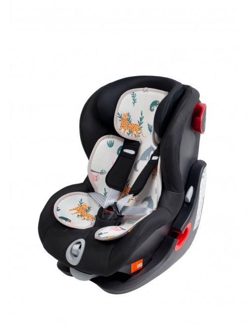 Leokid 3D Sommer-Sitzeinlage für Kindersitze und Kindewagen, Animal Friends (zweiseitig)