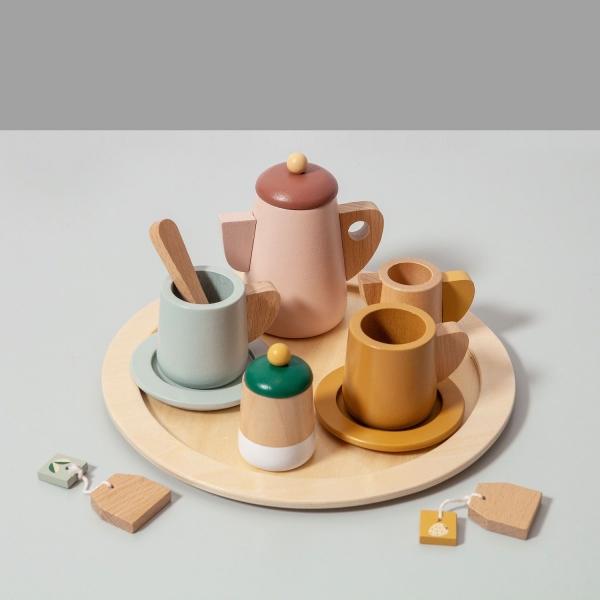 Petit Monkey Tee-Set aus Holz