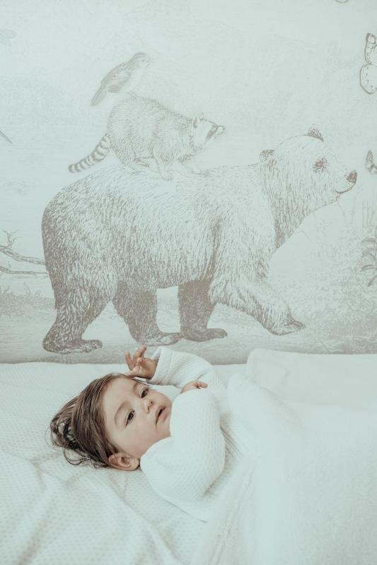 Snoozebaby zweischichtige Decke 100 x 150 cm, Stone Beige