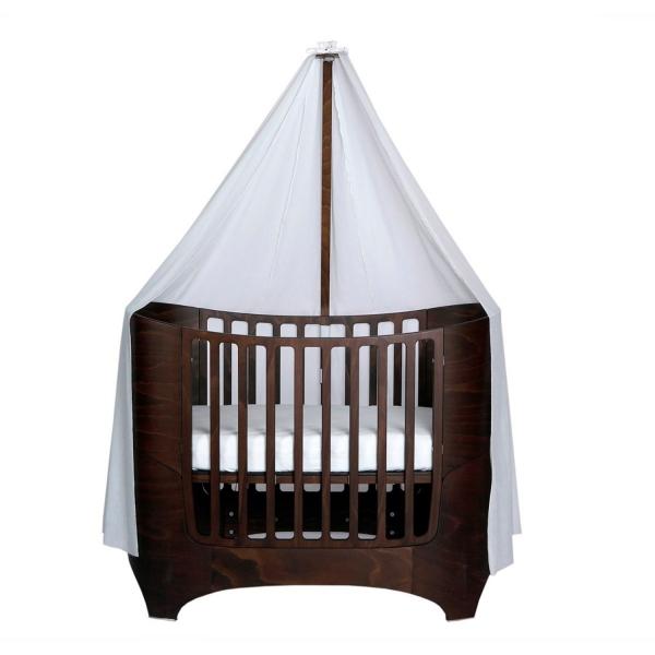 Leander Himmelgestell für Classic Babybett, Walnuss