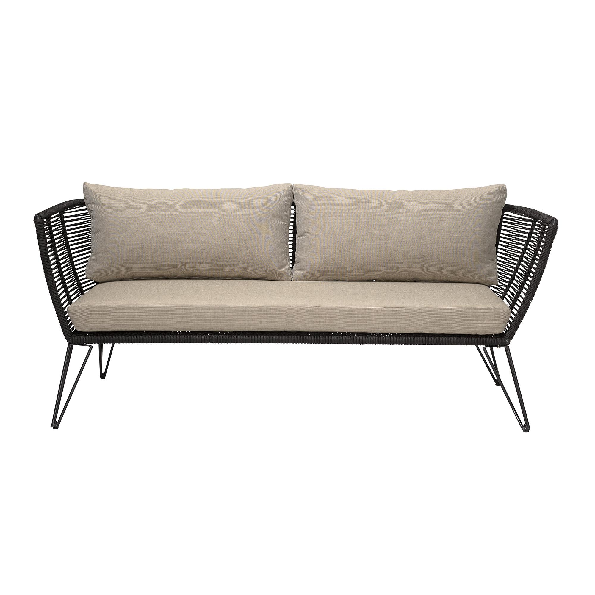 Bloomingville Lounge Sofa Outdoor Metall Schwarz
