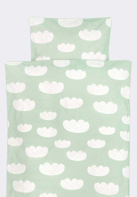 Ferm Living Bettwäsche, Baby, Wolken Mint