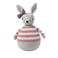 Sebra Häkel-Stehaufmännchen, Kaninchen Roberta