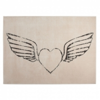Lorena Canals Acryl Kinderteppich, Heart - Wings Nude 140 x 200 cm