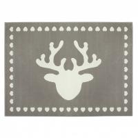 Lorena Canals Acryl Kinderteppich, Reindeer Grey 140 x 200 cm