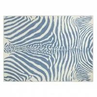 Lorena Canals Acryl Kinderteppich, Zebra Blue 140 x 200 cm