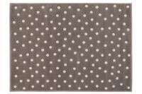 Lorena Canals Acryl Kinderteppich, Dots Dark Grey - Nude 120 x 160 cm