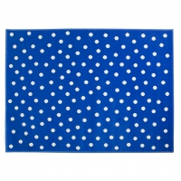 Lorena Canals Acryl Kinderteppich, Dots Deep Blue 200 x 300 cm