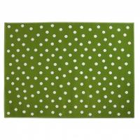 Lorena Canals Acryl Kinderteppich, Dots Green 120 x 160 cm