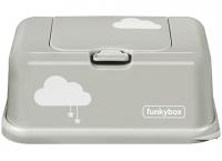 FunkyBox Feuchttücher Box, Misty Grey Clouds
