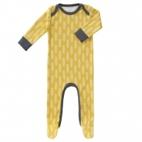 Fresk Babypyjama Bio-Baumwolle, mit Füsschen, Havre Vintage