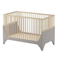 sebra Baby- & Kinderbett Yomi, Erdbraun/ Buchenholz