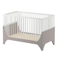 sebra Baby- & Kinderbett Yomi, Erdbraun/ weiss