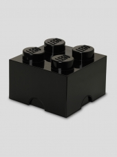 LEGO Storage Brick 4, Aufbewahrungsbox, schwarz
