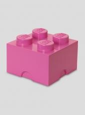 LEGO Storage Brick 4, Aufbewahrungsbox, pink