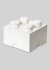LEGO Storage Brick 4, Aufbewahrungsbox, weiss