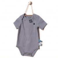 Snoozebaby Body, kurzarm, Blue Melange