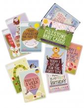 Milestone Baby Karten, Deutsch