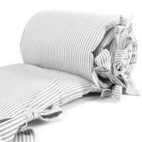 Sugarapple Bettnestchen für Beistellbett 150 x 25 cm, Streifen Grau