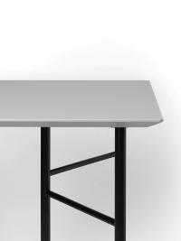 Ferm Living Tisch in Hellgrau, 160 cm (div. Beinfarben)