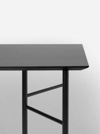 Ferm Living Tisch in Schwarz, 160 cm (div. Beinfarben)