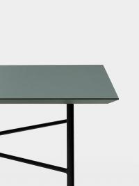 Ferm Living Tisch in Grün, 210 cm (div. Beinfarben)