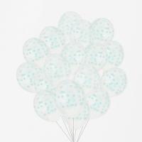 My Little Day Luftballone aus Latex, 100 Stk. - Confetti Aqua