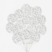 My Little Day Luftballone aus Latex, 100 Stk. - Confetti Silber