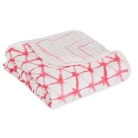 Aden Anais Kuscheldecke Silky Soft Dream Blanket - Berry Shibori