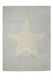 Lorena Canals Kinderteppich Wolle Star, Grau