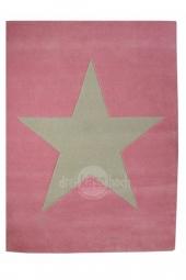 Lorena Canals Kinderteppich Wolle Star, Rosa