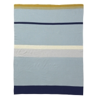 Ferm Living Little Stripy Decke - Blau