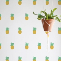 Tresxics textile Wandstickers, Ananas