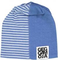 Geggamoja Mütze, Streifen/ Blau