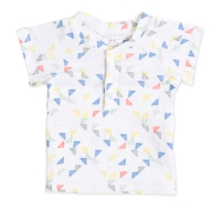 Aden Anais T-Shirt Henley, Small Triangles