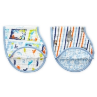 Aden + Anais Burpy Bib, 2er Pack - Jungle Book