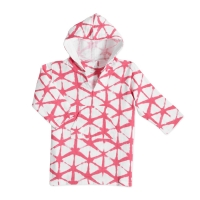 Aden Anais Strand Hoodie, Cubic Berry Shibori