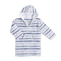 Aden Anais Strand Hoodie, Stripe Indigo Shibori, 12-18 Monate