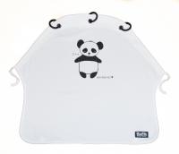 Kurtis Sonnen- & Windschutz für den Kinderwagen, Panda Weiss