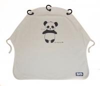 Kurtis Sonnen- & Windschutz für den Kinderwagen, Panda Grau