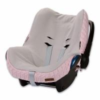 Babys Only Bezug für Babyschale, Zopf Uni Babyrosa