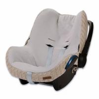 Babys Only Bezug für Babyschale, Zopf Uni Beige