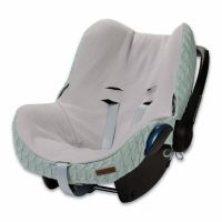 Babys Only Bezug für Babyschale, Zopf Uni Mint