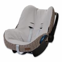 Babys Only Bezug für Babyschale, Zopf Uni Taupe
