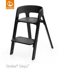 STOKKE Steps Sitz Schwarz, Beine Eiche Schwarz
