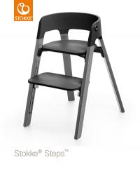 STOKKE Steps Sitz Schwarz, Beine Storm Grey