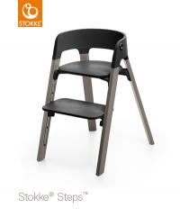 STOKKE Steps Sitz Schwarz, Beine Hazy Grey