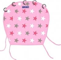 Dooky Sonnen- & Windschutz für den Kinderwagen, Pink mit Sternen